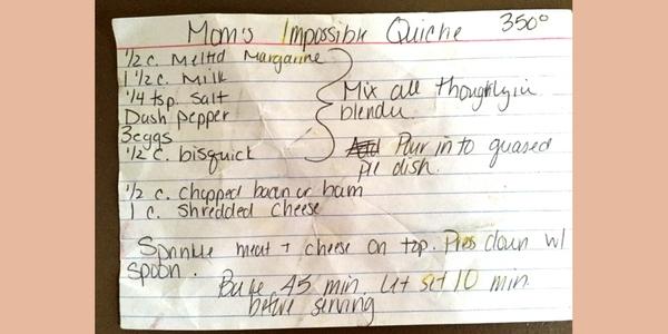 breakfast for dinner - brinner - crustless quiche recipe