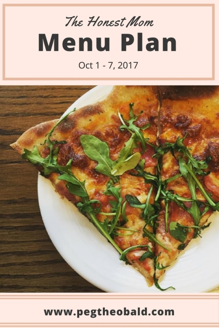 menu plan-honest mom blog