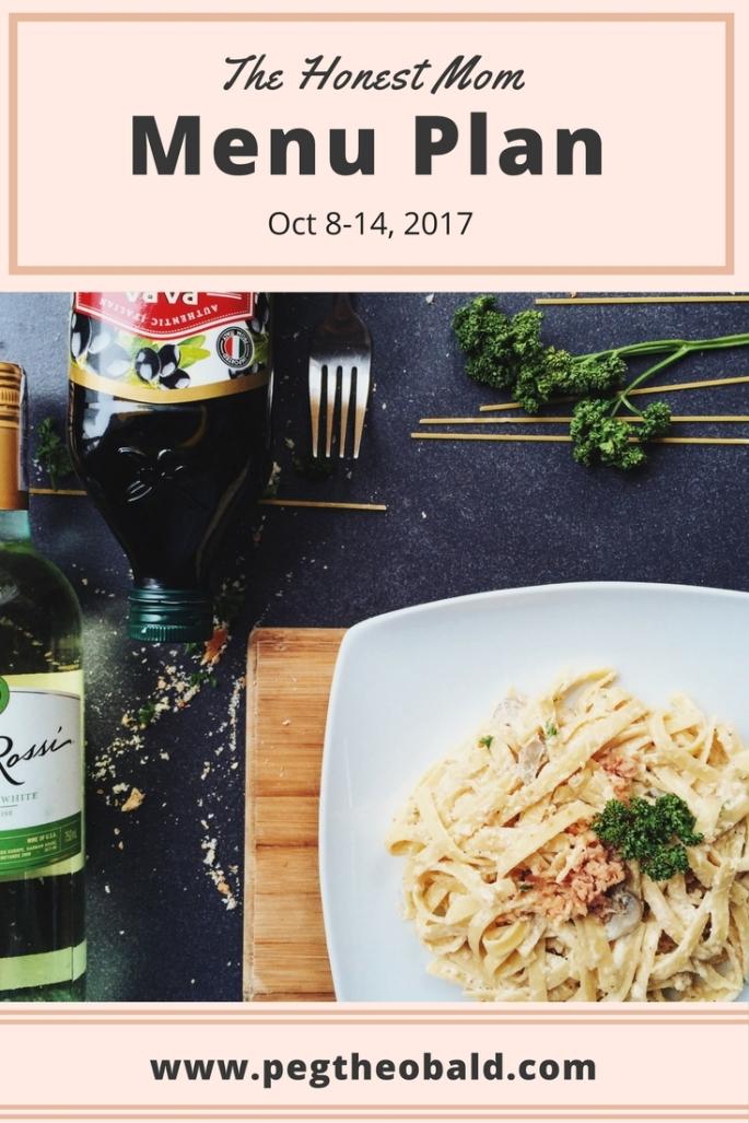 menu planning - meal prep