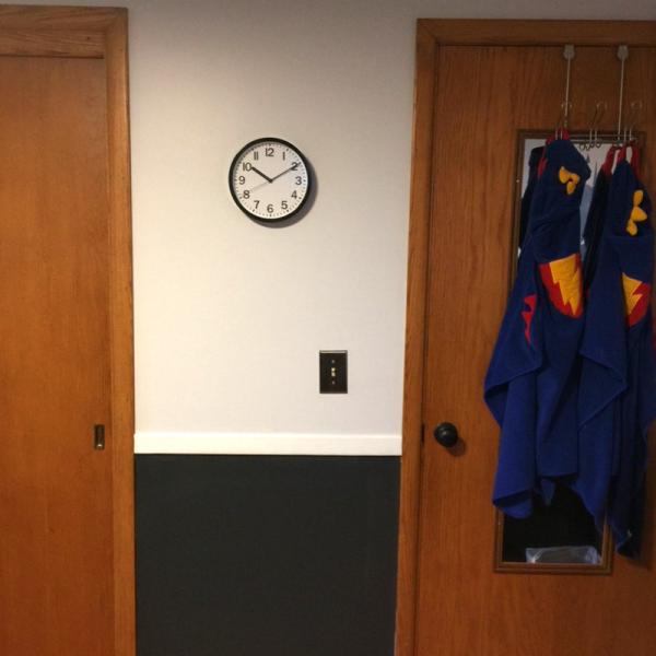 batman bedroom clock superhero towels